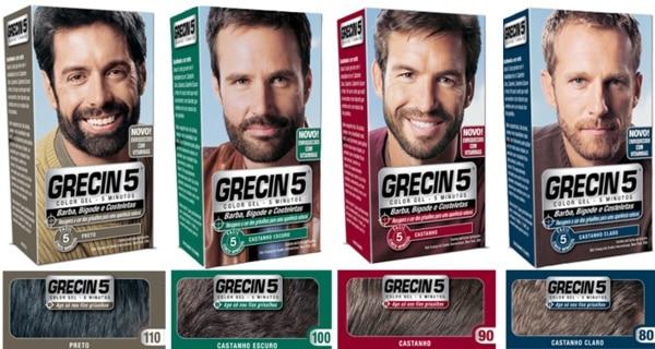 Grecin 5 - Shampoo Tonalizante para Cabelos Masculinos • Beard