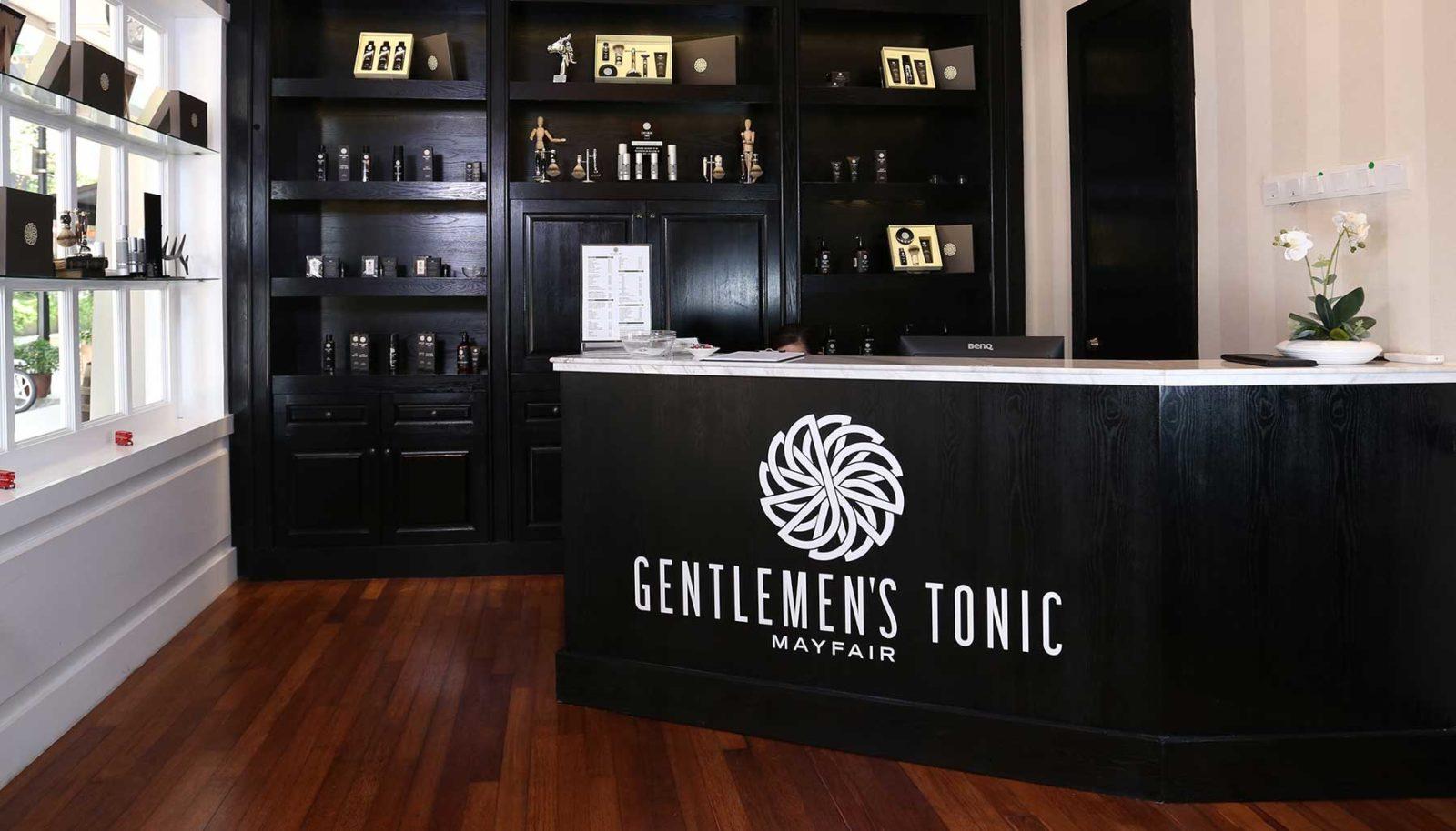 A Gentlemen's Tonic é uma Barbearias de Luxo que faz jus a seu nome